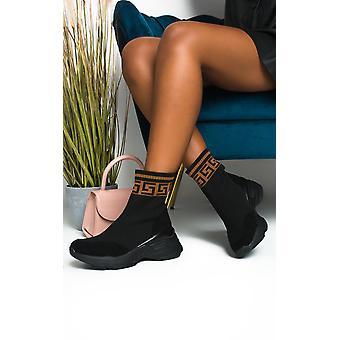 IKRUSH Womens Erynn Printed Chunky Sock Trainers