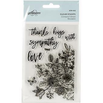 Spellbinders Floral Love Clear Stamps
