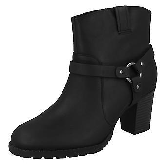 Ladies Clarks Heeled Ankle Boots Verona Rock