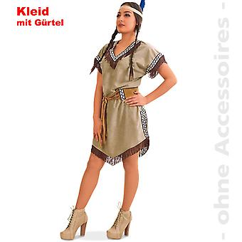 Native American Indian Princess drakt damer Mohican Squaw Lady drakt