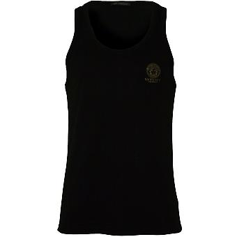 Versace Iconic Tank Top Vest, Black