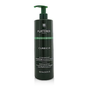 Rene Furterer Curbicia purifying ritual normalizando leveza shampoo-couro cabeludo propenso a oleosidade (produto de salão)-600ml/20.2 oz