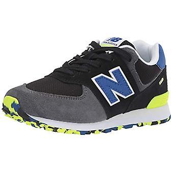 جديد التوازن الأولاد 574v1 الدانتيل متابعة حذاء رياضي،، أسود / رويال بلو، حجم 2 الرضع واسعة