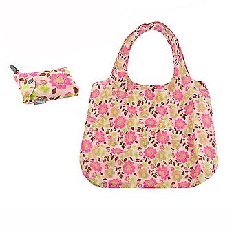 Lightweight Flower Shopping Clip Bag in Pouch - Pink