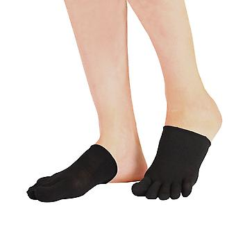 TOETOE Essential Everyday Unisex Plain Silk Half Toe Socks