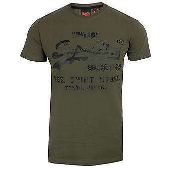 Superdry الرجال & s الثوم المعمر شفي قميص متجر المستعبدين تي شيرت