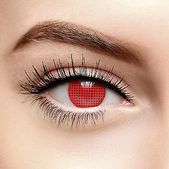 Red Mesh Halloween Colored Contact Lenses (30 Day)