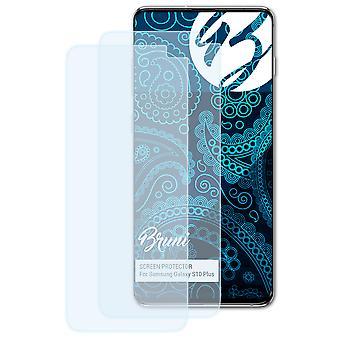 Bruni 2x näytönsuoja yhteensopiva Samsung Galaxy S10 Plus suojaava kalvo