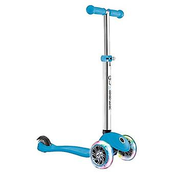 Globber Primo Lights 3 Wheel Scooter With Light Up Wheels Sky Blue