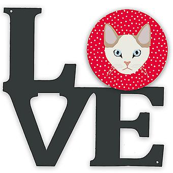 Carolines Treasures  CK5125WALV Korean Bobtail Cat Love Metal Wall Artwork LOVE