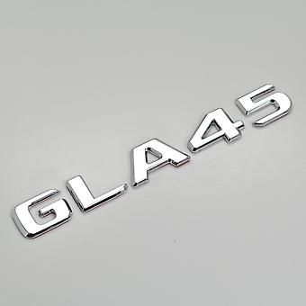 Silver Chrome GLA45 Flat Mercedes Benz Car Model Numbers Letters Badge Emblem For GLA Class X156 AMG