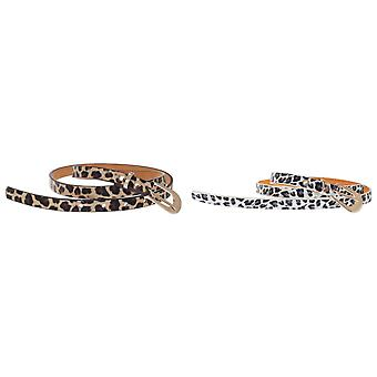 Grace Womens/Ladies Leopard Print Leather Belt