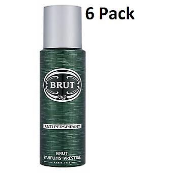 6 x Brut anti-transpirant Body Spray 200 Ml