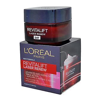 L ' Oreal revitalift Laser renew geavanceerde anti veroudering dag crème 50ml Triple actie