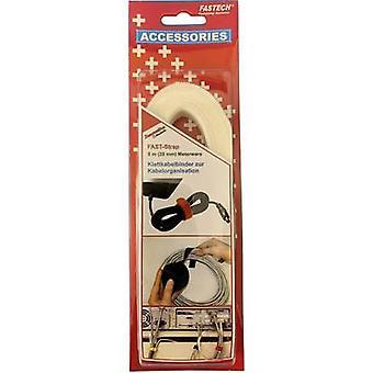 FASTECH® 697-010 Krok-og-sløyfe tape for bunting Krok og sløyfe pute (L x B) 5000 mm x 20 mm Hvit 5 m
