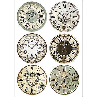Stamperia Rice Paper A4 Clocks