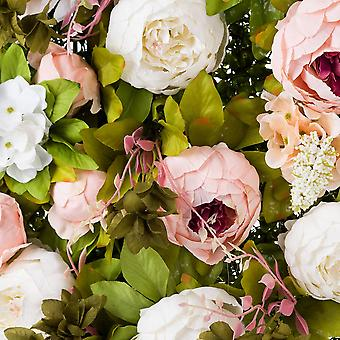 Hill Interiors Artificial Peony Flower Wall