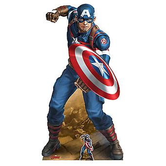 Captain America Vibranium Shield Marvel Legends Official Cardboard Cutout