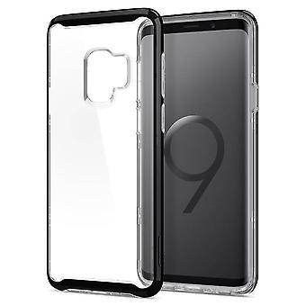 Spigen Midnight Black Neo Hybrid Backcover Hoesje Samsung Galaxy S9 - Transparant