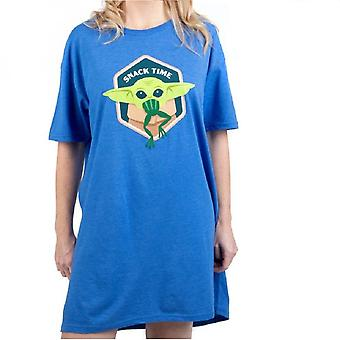 Star Wars The Mandalorian The Child Snack Time Women's Lounge Shirt