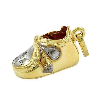 Vauvan kenkä Riipukset lapsille kulta 375 seuraajaa, pikku kenkä, 9 Kilotonnia kultaa