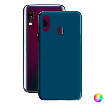 Mobiele cover Samsung Galaxy A40 Contact Silk TPU/Turquoise
