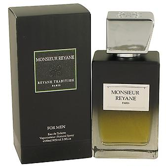 Monsieur Reyane Eau De Toilette Spray By Reyane Tradition 3.3 oz Eau De Toilette Spray