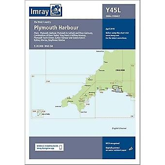 Imray Chart Y45 Plymouth Harbour Laminated - Laminated Y45 Plymouth Ha