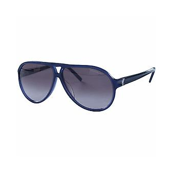 Karl Lagerfeld KL744S 077 Unisex Satin Blue Sunglasses - Blue