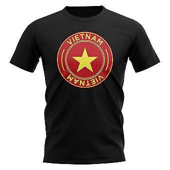 Vietnam Football Badge T-Shirt (Black)