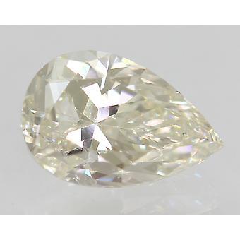 Certified 0.91 Carat I Color VVS1 Pear Enhanced Natural Diamond 7.57x5mm 2VG