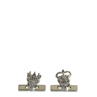Alexander Mcqueen 554586j160b0995 Men's Silver Brass Cuff Links