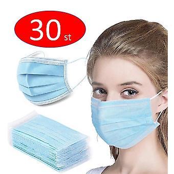 30kpl Kertakäyttöiset suojaavat kasvot pölynestonaamari, munskydd