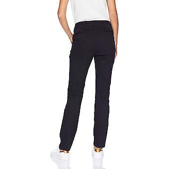 Essentials Women's Straight-Fit Stretch Twill Chino, Black, Size 6.0