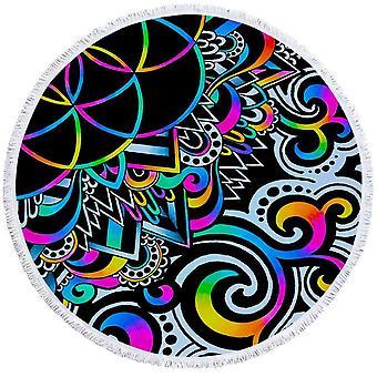 Retro kleuren abstracte vormen strandlaken