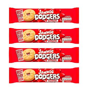 4 x 140g Jammie Dodger Raspberry Fruit Jelly Biscuits Cookies Sweets
