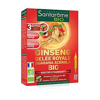 Ginseng Royal Jelly Guarana Acerola Organic 30 vegetable capsules