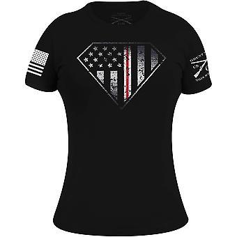 Grunt Style Women's Nurse Line Crest T-Shirt - Black