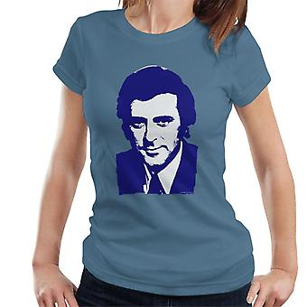 TV kertaa juontaja Terry Wogan 1972 naisten t-paita