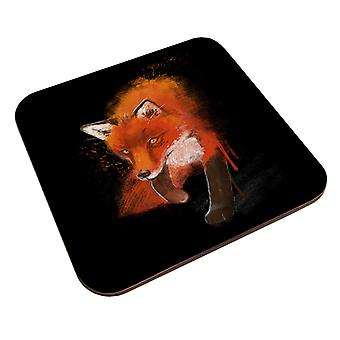 Bemalte Fox Coaster