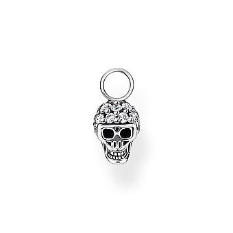 Thomas Sabo Charm Club Silber Schädel Ohrring Anhänger EP012-643-14