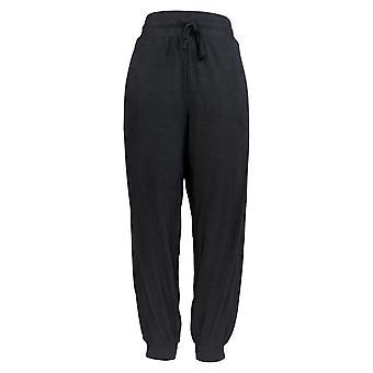 AnyBody Women's Pants Cozy Knit Slub Jogger Black A374509