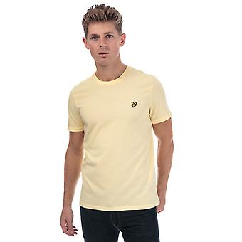 Men's Lyle And Scott Plain T-Shirt in Yellow