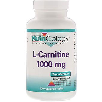 Nutricology, L-Carnitine, 1,000 mg, 100 Vegetarian Tablets