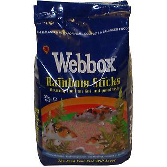 Webbox Rainbow Sticks plutitoare de pește alimentare pentru Koi & Pond Pește - 5kg
