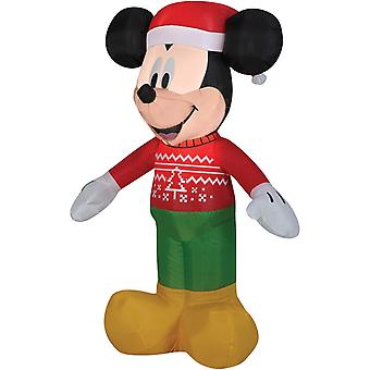 Airblown Mickey Mouse In Ugly Sweater Christmas Lawn Decoration