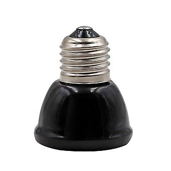 Mini Black Pet Heating Lamp - Infrared Ceramic Emitter Heat Light Bulb