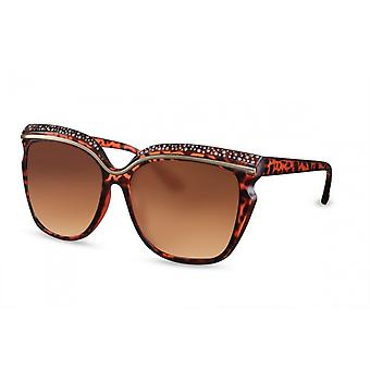 Sunglasses Women Cat.3 Butterfly Brown/Gold (CWI1564)