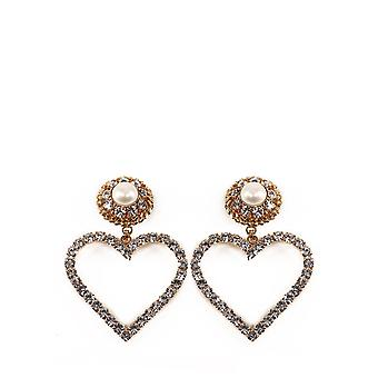 Alessandra Rich Faba2220j342002 Mujer's Pendientes de metal de oro