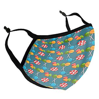 Lollipops & Candy Kid's Reusable Fabric Face Mask